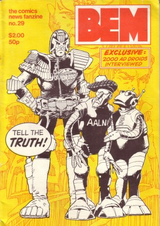 BEM 29 cover by Mike McMahon, Judge Dredd with Steve MacManus and Alan Grant