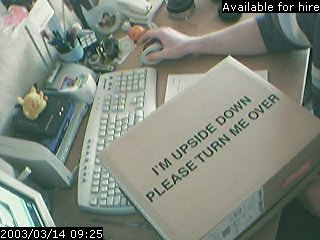 A box with a helpful message printed on it